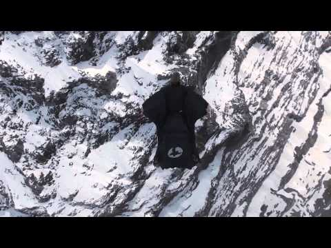 Wingsuit flight over the Alps
