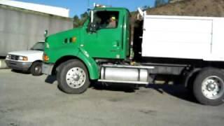 Driving a transfer  dump truck