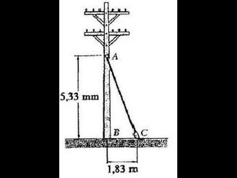 A tração no cabo AC é de 370 N. Determine as componentes