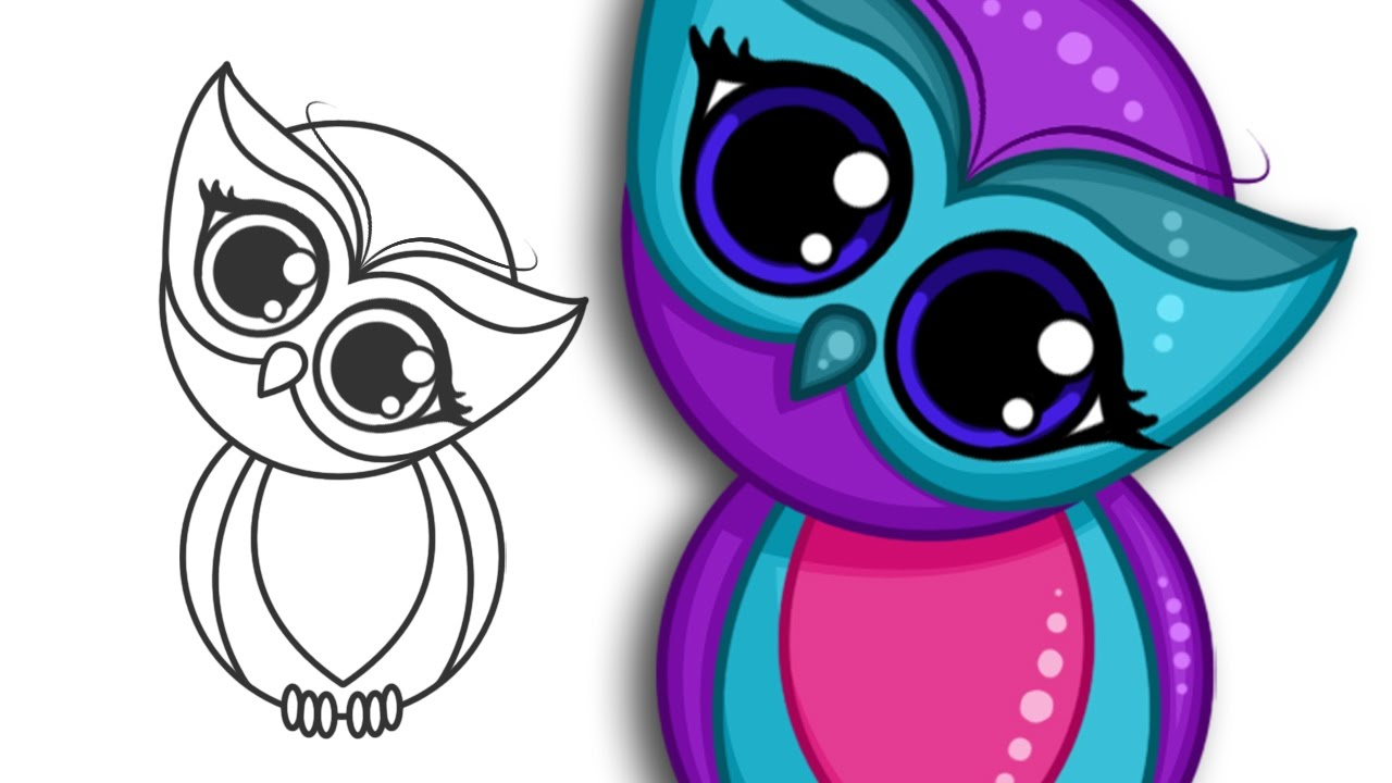 Uncategorized Easy Drawings Of Owls how to draw a super cute owl step by drawing youtube