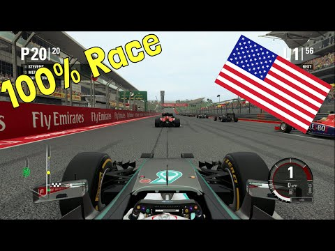 F1 2015 - 100% Race at Circuit of the Americas in Hamilton's Mercedes