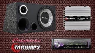 Caixa Trio Pioneer + Módulo Taramps + Mp3 Player Pioneer