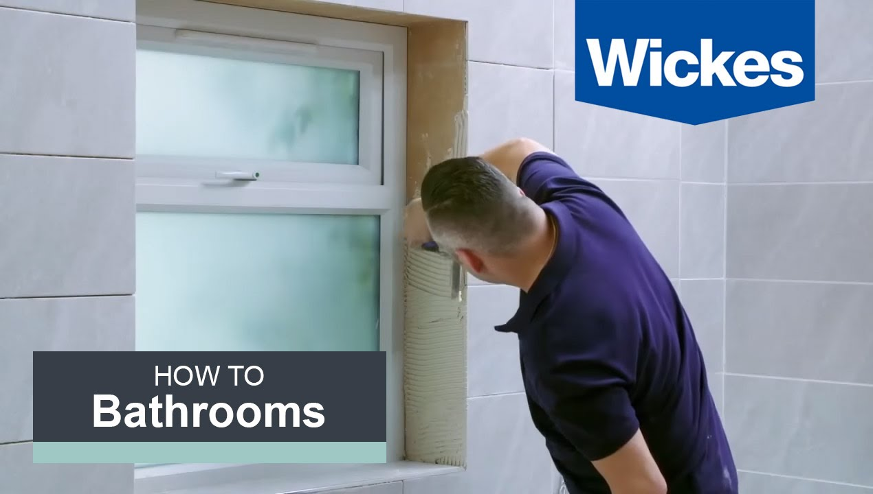 How to fit bathroom tiles - How To Tile Around A Window With Wickes