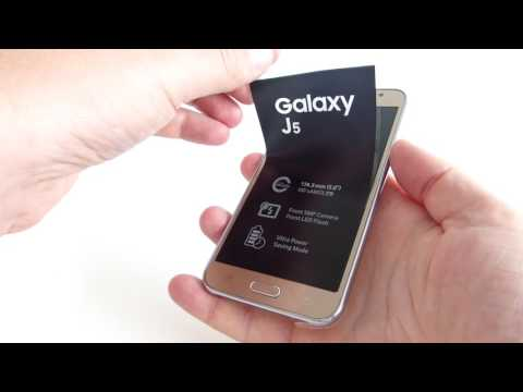 Samsung Galaxy J5 unboxing