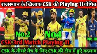 IPL 2021 - Chennai Super Kings Confirm Playing 11 VS Rajasthan Royals l CSK Playing 11 l CSK VS RR