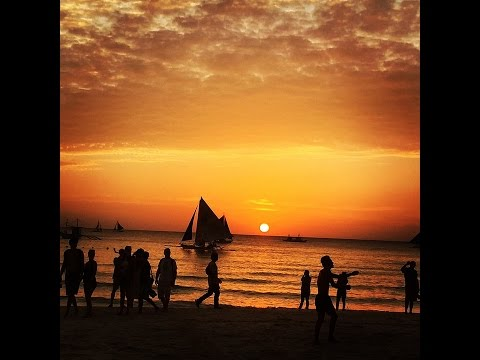 Amazing Sunset at Boracay Island in Malay, Aklan, Philippines