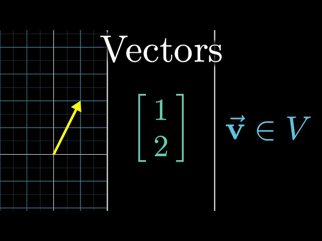 Vectors, what even are they? | Essence of linear algebra, chapter 1