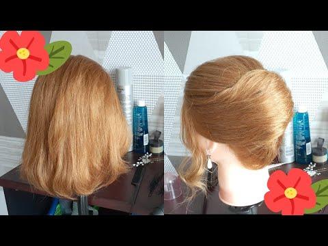 Tutorial Sanggul Modern Untuk Rambut Pendek (easy Hairstyle For Short Hair)