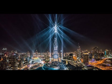 Burj Khalifa Dubai Light Up 2018 - Multimedia show by AO Cre