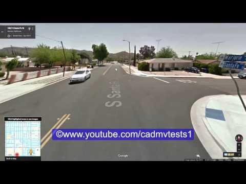 Hemet, California behind the wheel test route # 3