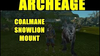 ArcheAge Gameplay Ep 3 - Coalmane Snowlion Mount! (26 Minute ArcheAge Gameplay)