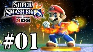 Super Smash Bros for 3DS - Classic Mode #01 - Mario