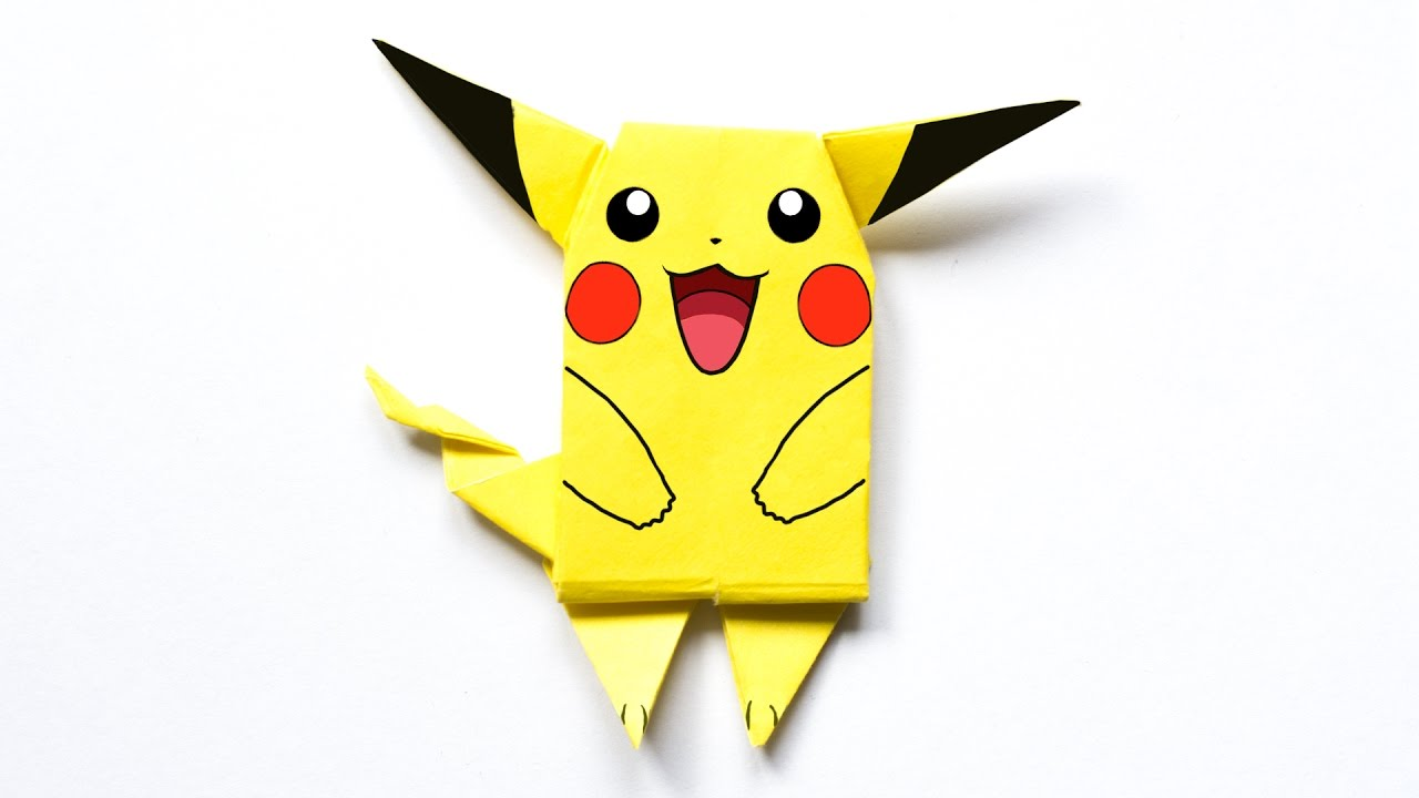 pikachu origami pokemon youtube