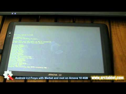 Installing Arnova 10 custom Android 2.2 Froyo firmware with Android Market and root