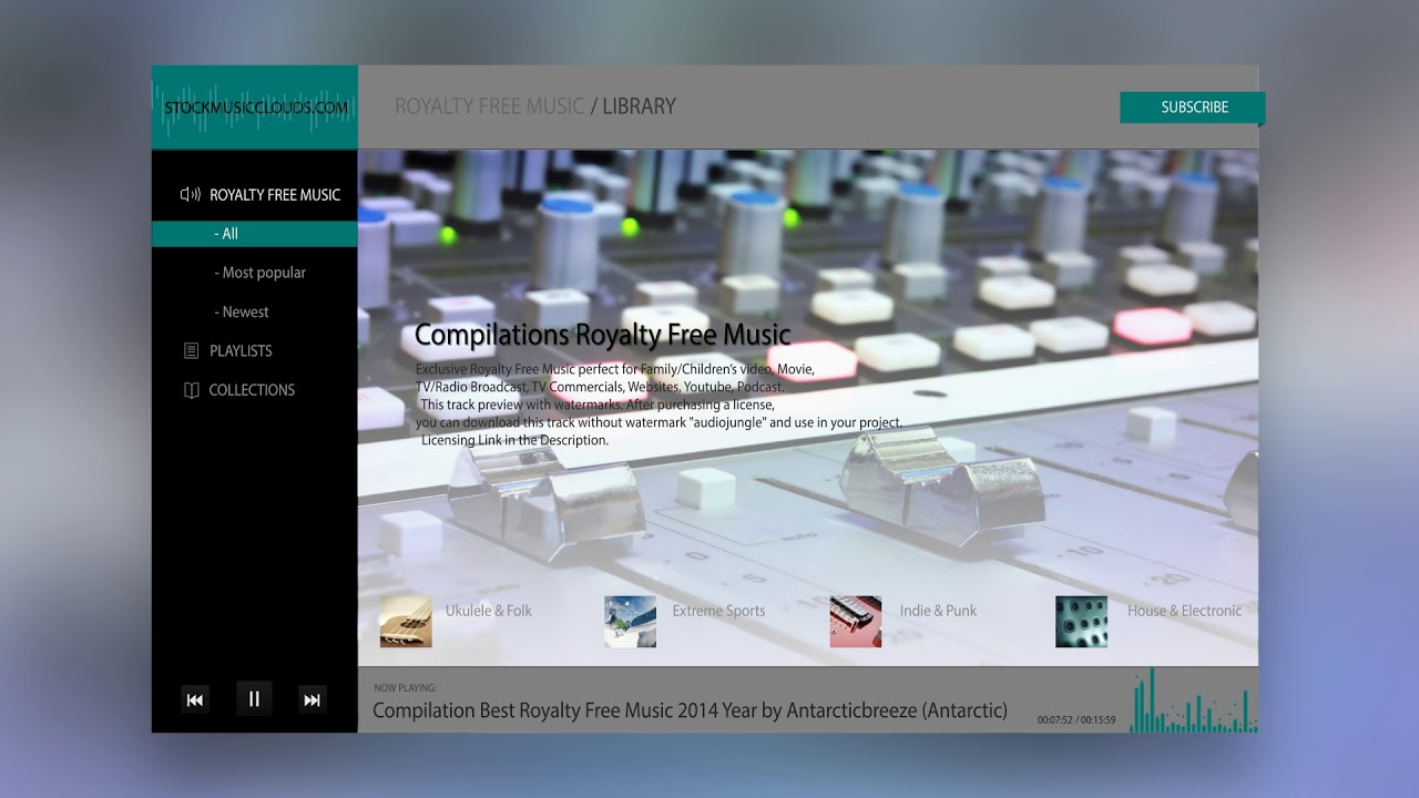 Royalty Free Music Store - Music for TV/Radio Broadcast, AD, Film ...