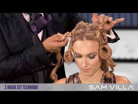 The S Braid Set: Multi-textured braids into a shorter hairstyle