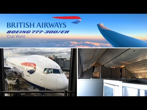 British Airways Business Class Boeing 777-300/ER Seattle to