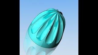 54 урок SOLIDWORKS Вырез по сечениям, сплайн на поверхности
