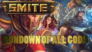 smite alpha xbox one rundown of all gods