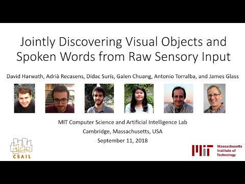 Jointly Discovering Visual Objects and Spoken Words from Raw Sensory Input