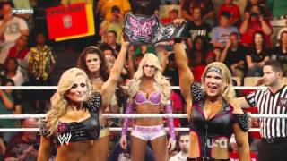 WWE RAW 10/03/11 | Eve & Kelly Kelly vs. Beth Phoenix & Natalya
