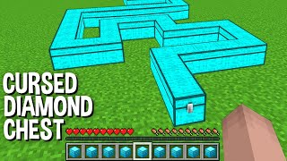 NEVER OPEN this CURSED DIAMOND CHEST but WHAT INSIDE CURSED CHEST in Minecraft ???