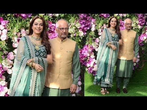Juhi Chawla With Husband Jay Mehta At GRAND WEDDING Of Akash Ambani & Shloka Mehta At Antilia House