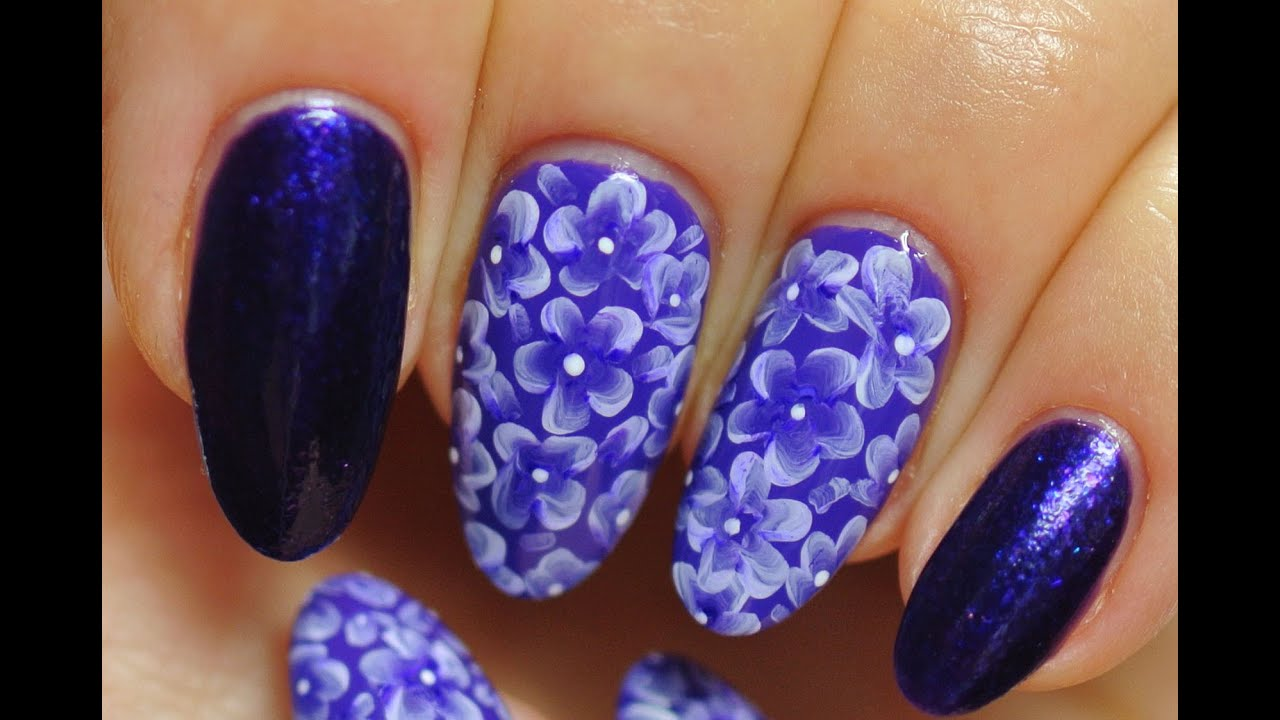 Nail Art Floral Design Its Simple Youtube