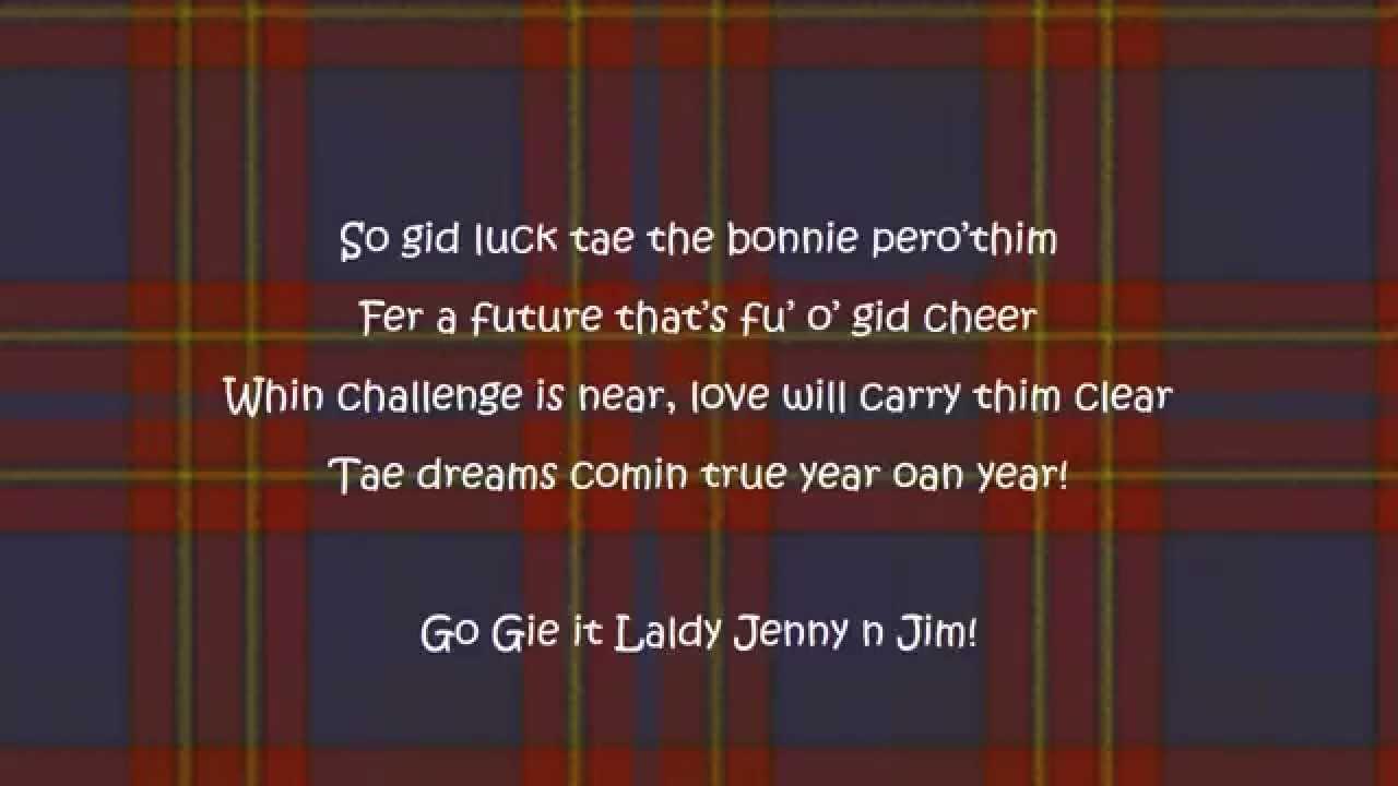 Scottish Wedding Poem Youtube