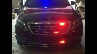 Mercedes benz w222 S63 AMG police light (СГУ Элект стробоскопы w222)