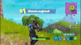 VICTORY IN SOLITARY!! WITH THE SKIN OF THE SQUAD LEADER! FORTNITE BATTLE ROYALE