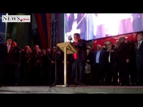 Gagik Tsarukyan's speech on three parties' rally