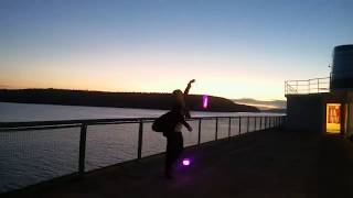 LED Poi Freestyle, On our way to Imagine Festival on the Ferry! Sept 6th