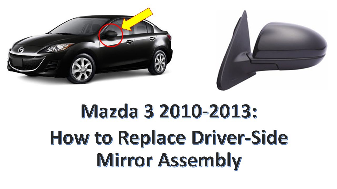 2009 Mazda 6 Rear View Mirror Wiring Diagram Free Download Nissan Cube 3 2010 2013 How To Replace Driver Side Assembly Youtube