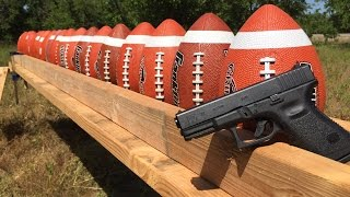 GLOCK 19 VS FOOTBALL 🏈🏈🏈