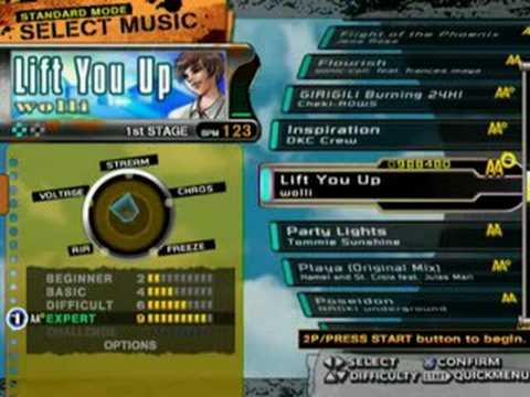 DDR X PS2(USA) - FULL Song list Line Record