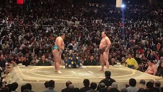 大相撲初場所 1月24日 白鵬対玉鷲.