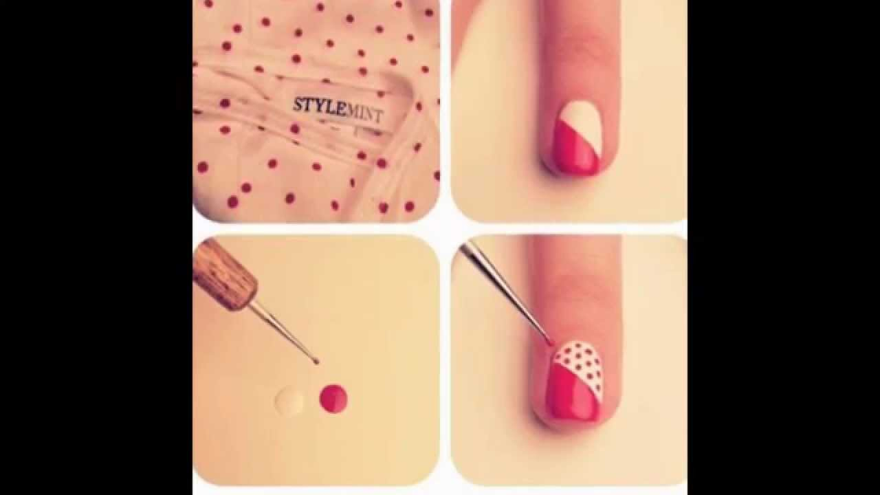 Idee de vernis nail art fa on diapo by diamonds youtube - Idee ongles vernis facile ...