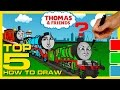 TOP 5 | How to Draw and Color Thomas and Friends ★ Animated Toy Trains for Kids