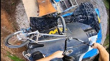 LEARNING BMX TRICKS ON A MEGA RAMP!