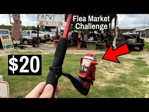 $20 Flea Market Fishing CHALLENGE (IMPOSSIBLE!!!)