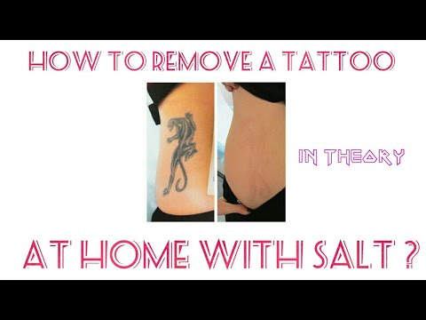 How to remove a tattoo at home with salt ? - YouTube