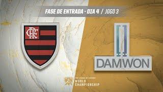 Mundial 2019: Fase de Entrada - Dia 4 | Flamengo eSports  x DAMWON Gaming (Jogo 3)