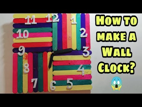 How to make a Wall Clock with Popsicle/Icecream Sticks || DIY By Ray Collections