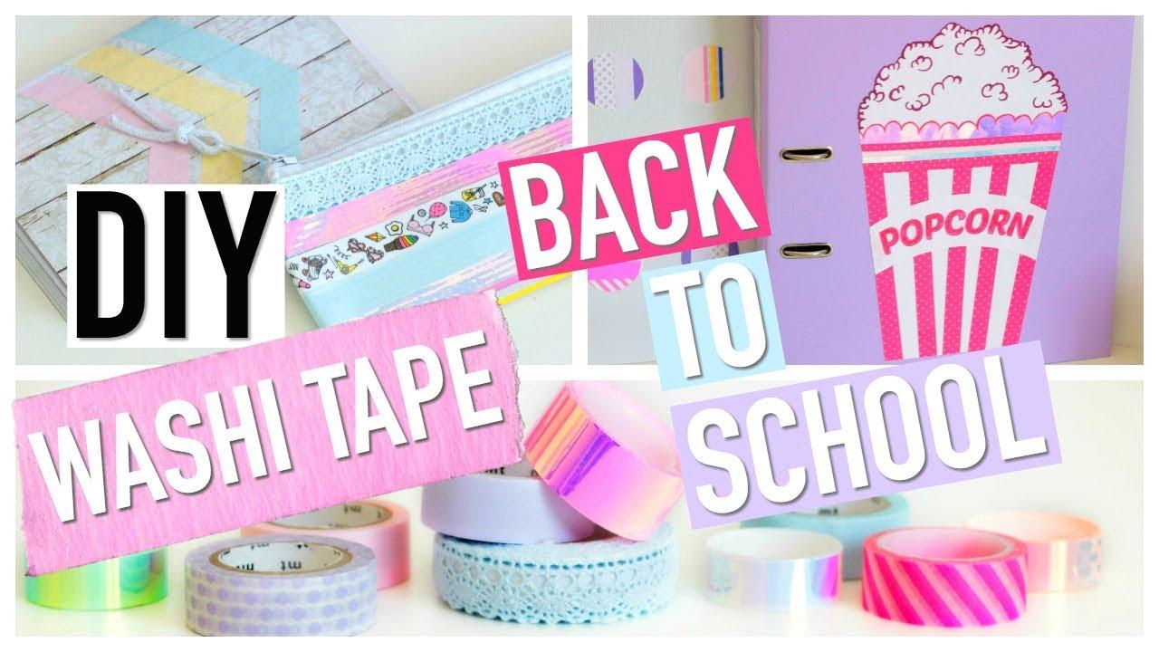 diy back to school facile washi tape fran ais youtube. Black Bedroom Furniture Sets. Home Design Ideas