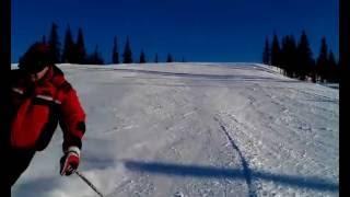 Катание на одной лыже