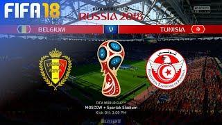 FIFA 18 World Cup - Belgium vs. Tunisia @ Spartak Stadium (Group G)