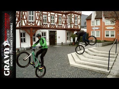 URBAN STREET MTB | Last Ride 2018 mit Trail & Trialbike | Nose Manual bei Treppen | Leo Kast #162