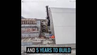 Zakładanie sarkofagu na elektrownie w Czarnobylu !