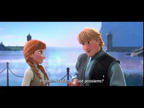 Frozen-Anna & Kristoff kiss ( ENG- SubIta)